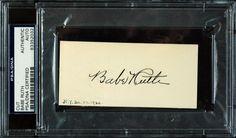 Babe Ruth autograph cut