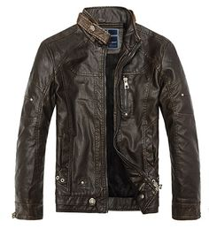 Retro biker jacket made of faux leather vintage collection