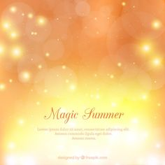 Magic summer background Free Vector