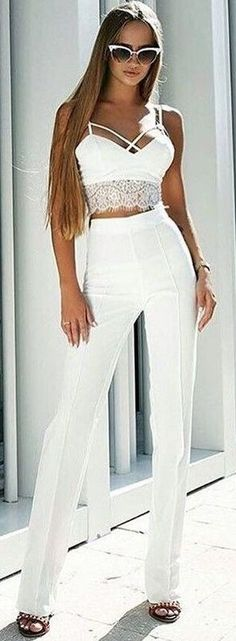#summer #chic #feminine #style | All Everything White