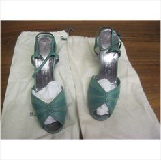 Bruno Magli Vintage Green Shoes Made in Italy. Size 5 on eBid United Kingdom