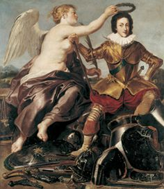 Victory crowning Louis XIII (1601-1643), 1620 by Peter Paul Rubens (Musee de l'Armie)
