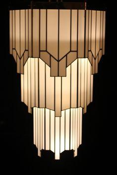 Art Deco Lighting at the Hawksmoor, Air St, London W1