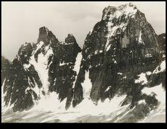 Turret and Mount Geikie from Glacis Ridge, Sierra Club High trip, Canadian Rockies, 1928