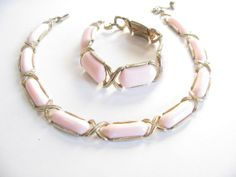 Vintage Pink Thermoset Necklace & Bracelet  by WhimsicalEverAfter, $38.00