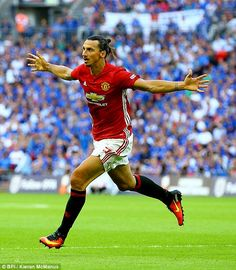 Zlatan Ibrahimovic marked his competitive debut for Manchester United with the winning goal to secure his side the Community Shield against Leicester City thanks to a 2-1 win at Wembley Stadium.
