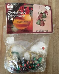 VINTAGE 1979 HOLIDAY INDUSTRIES CHRISTMAS Ringing Bells ORNAMENT KIT NEW