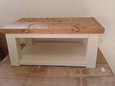 Chunky rustic 4 leg reclaimed timber Coffee by SuffolkReclaimed