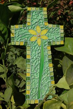 glass mosaic cross