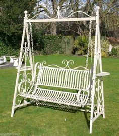 Wrought iron garden swing ~ http://smartstore.uk.com/index.php?cPath=21