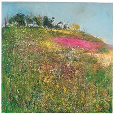 Kurt Jackson (*Reminds me of the wildflowers that grow along the Amish farmers' fields here in Ronks, PA! Abstract Landscape Painting, Seascape Paintings, Artist Painting, Artist Art, Artist At Work, Landscape Art, Landscape Paintings, Kurt Jackson, Contemporary Landscape