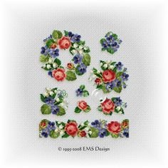 floral cross stitch patterns - Google Search