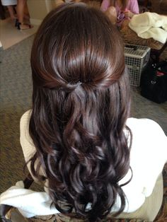 Simple fancy hairstyle: