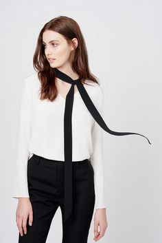 Silk Bow Blouse | Cuyana