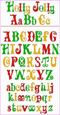 Holly Jolly Alphabet