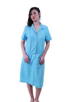 1960 Dress.women's dresses.60's Dresses.Light Blue by shpirulina