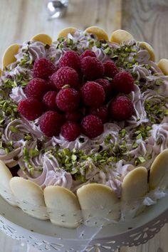 Cheesecake al cioccolato fondente e lamponi per UnLamponenelcuore