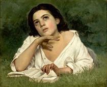 Moça com Livro - Almeida Júnior