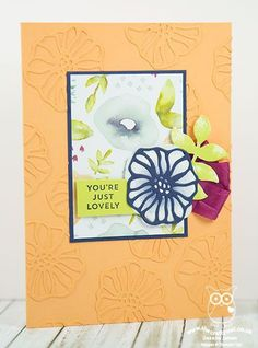 Stampin' Up! Oh So Eclectic Faux Textured Embossed Flowers