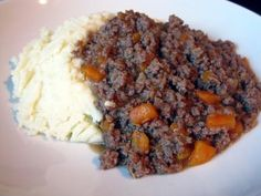 Mince and Tatties - traditional scottish meal