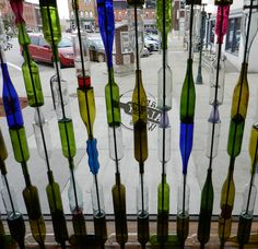 Room Divider Made From Clear Glass Bottles For The Home