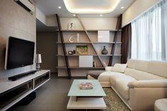 Astoria Park, Modern Condominium Interior Design, Living Room.