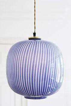 glass pendant lamp, venini, 1950′s, Italy