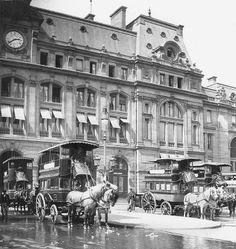 14h38, Gare Saint-Lazare, en 1900