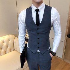 Waistcoat Men, Mens Suit Vest, Mens Suits, Blazer Outfits Men, Stylish Mens Outfits, Formal Men Outfit, Mens Fashion Suits, Gentleman Style, Mens Clothing Styles