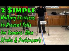 """""""Famous"""" Physical Therapists Bob Schrupp and Brad Heineck present: 2 Simple Walking Exercises to Prevent Falls for Seniors; Also Stroke & Parkinson's ALERT: . Parkinsons Exercises, Stroke Therapy, Physical Therapy Exercises, Occupational Therapy Activities, Neck Exercises, Acute Care, Walking Exercise, Senior Fitness, Health And Beauty Tips"""