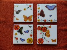 Butterfly  Coasters by CreationsByMoonBeam on Etsy, $15.00