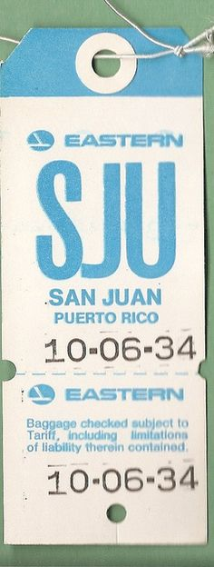 Decided to transfer to SJU just when they decided to close the base! Eastern Airlines - SJU San Juan, PR