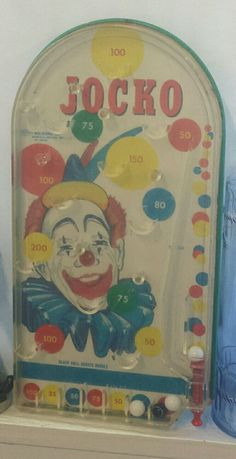 Vintage 1960s JOCKO the CLOWN Pinball Game WOLVERING TOY Table Marble Arcade | Toys & Hobbies, Vintage & Antique Toys, Other Vintage & Antique Toys | eBay!