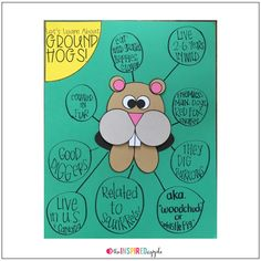 This fun little Groundhog Day activity makes the perfect addition to your anchor chart or class posters about Punxsutawney Phil and his springtime predictions! Or, use the templates to let your kindergarten, first grade, or second grade students make a fun little groundhog craft peep-over to adorn their school work, your hallway, or classroom walls!