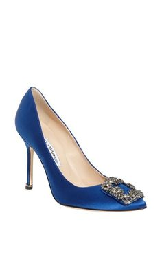 9c3be54a698 Manolo Blahnik Hangisi Jeweled Pump Blue Satin  womenstyle  fashion   trending  blackfriday