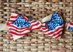 Mens Wonderful Patriotic American Flag Bow Tie - Men's adjustable, pretied bowtie. $18.00, via Etsy.