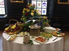 bUFFET tABLES FOR wEDDING RECEPTIONS   Finger Buffet at Apothecaries' Hall with Spring Flowers Provided by a ...