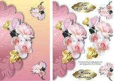 Sent with Love Roses on Craftsuprint - View Now!