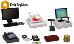 Cash Registers by Around the Sims4*mesh*ATS4_object_cashregister