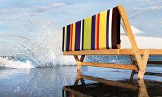Original and young interpretation for this which combines ergonomics, pure synthesis and emotion.  #tolo #noctisbed #perverisognatori #home #design #natural #white #stripes #multicolor #rigo #sea #solocosebelle #instangood #instancool