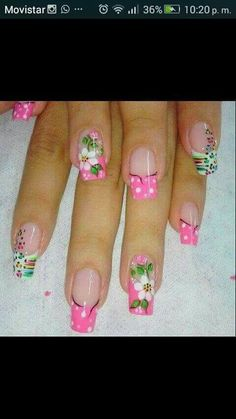 Nail Art Designs, Lily, Finger Nails, Simple, Fingernail Designs, Lilies, Nail Designs, Nail Art