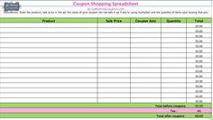 coupon sheet template