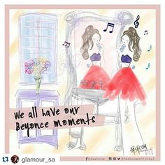 Hey, it's OK... we all have our Beyoncé moments ✨  Our latest post for @glamoursa  We  @glamourmag  •  #beyonce #queenb #fashcom #fashioncomic #comic #illustration #glamour #sing #music