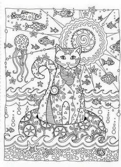 고양이 컬러링북 도안/ 색칠공부 프린트해서 사용하세요~ : 네이버 블로그
