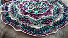 Ravelry: roseslace's My Mandala with listed colors