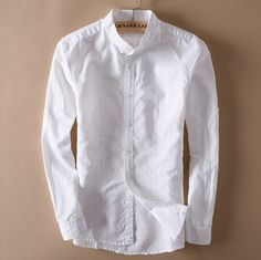 Contemporary New-Age Long-Sleeved Linen Shirt