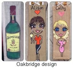 Personalised and hand painted bottle bags - perfect gift £8 at www.facebook.com/oakbridgedesignni