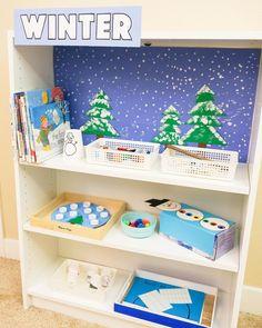 Preschool Centers, Preschool At Home, Preschool Learning, Preschool Crafts, Teaching, Montessori Toddler, Toddler Preschool, Toddler Activities, Winter Fun