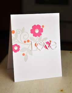 Love Card by Maile Belles for Papertrey Ink (December 2013)