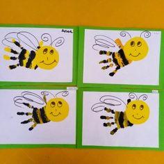 handprint bee craft